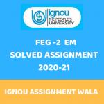 IGNOU FEG 2 SOLVED ASSIGNMENT 2020-21