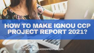 HOW TO MAKE IGNOU CCP PROJECT REPORT 2021 ?