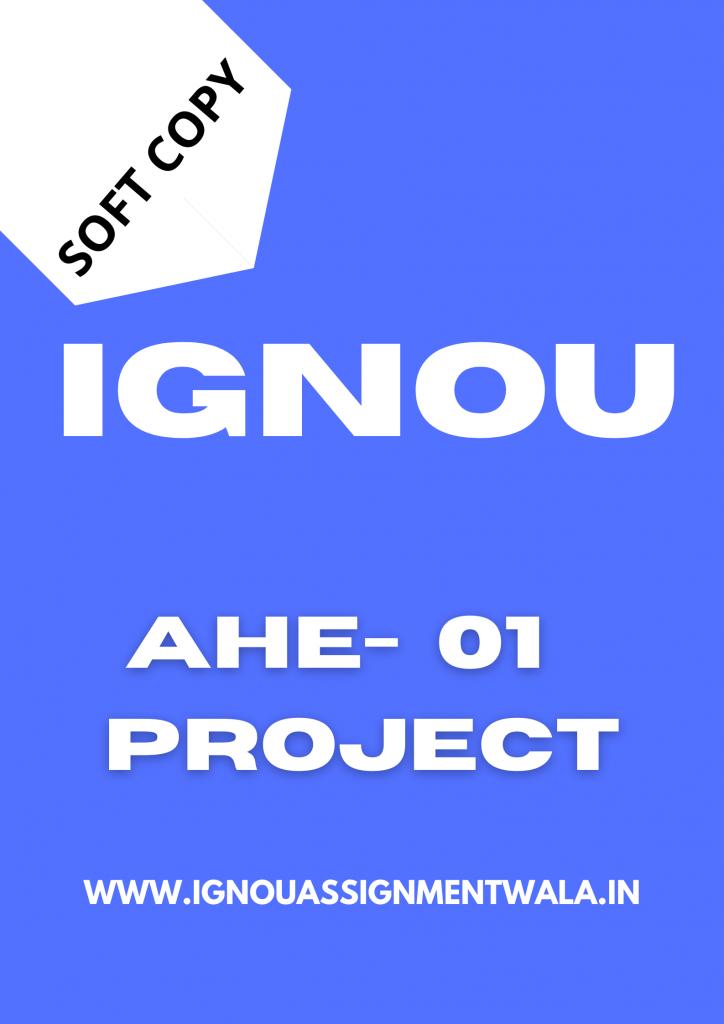 ignou ahe 1 project buy 2021