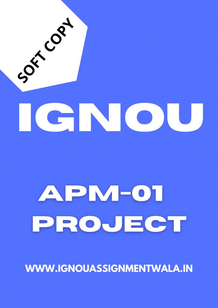 ignou apm 1 project 2022