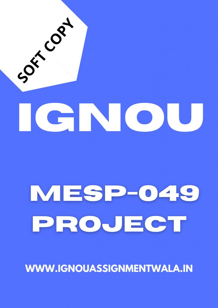 ignou pgdema project 2021