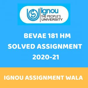 IGNOU BEVAE 181 HINDI SOLVED ASSIGNMENT 2020-21