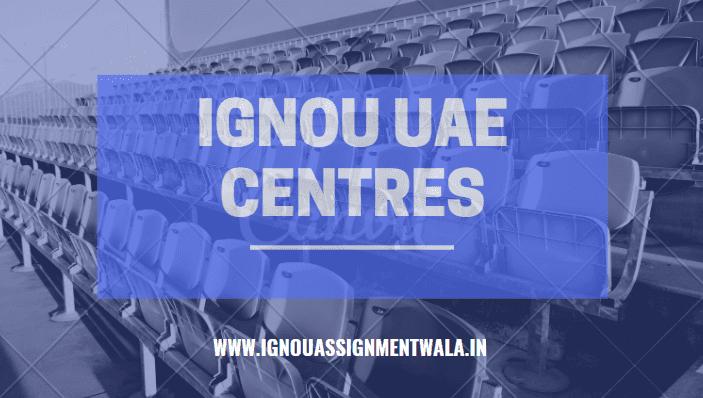 IGNOU UAE