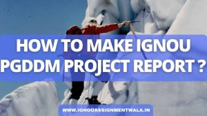 HOW TO MAKE IGNOU PGDDM PROJECT REPORT ?