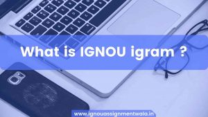 Read more about the article What is IGNOU igram ?