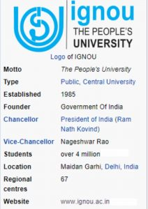 is ignou degree valid for govt jobs ?