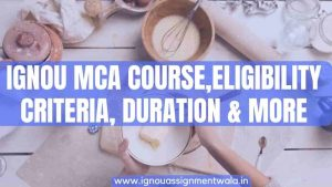 IGNOU MCA Course ,Eligibility Criteria, Duration & More