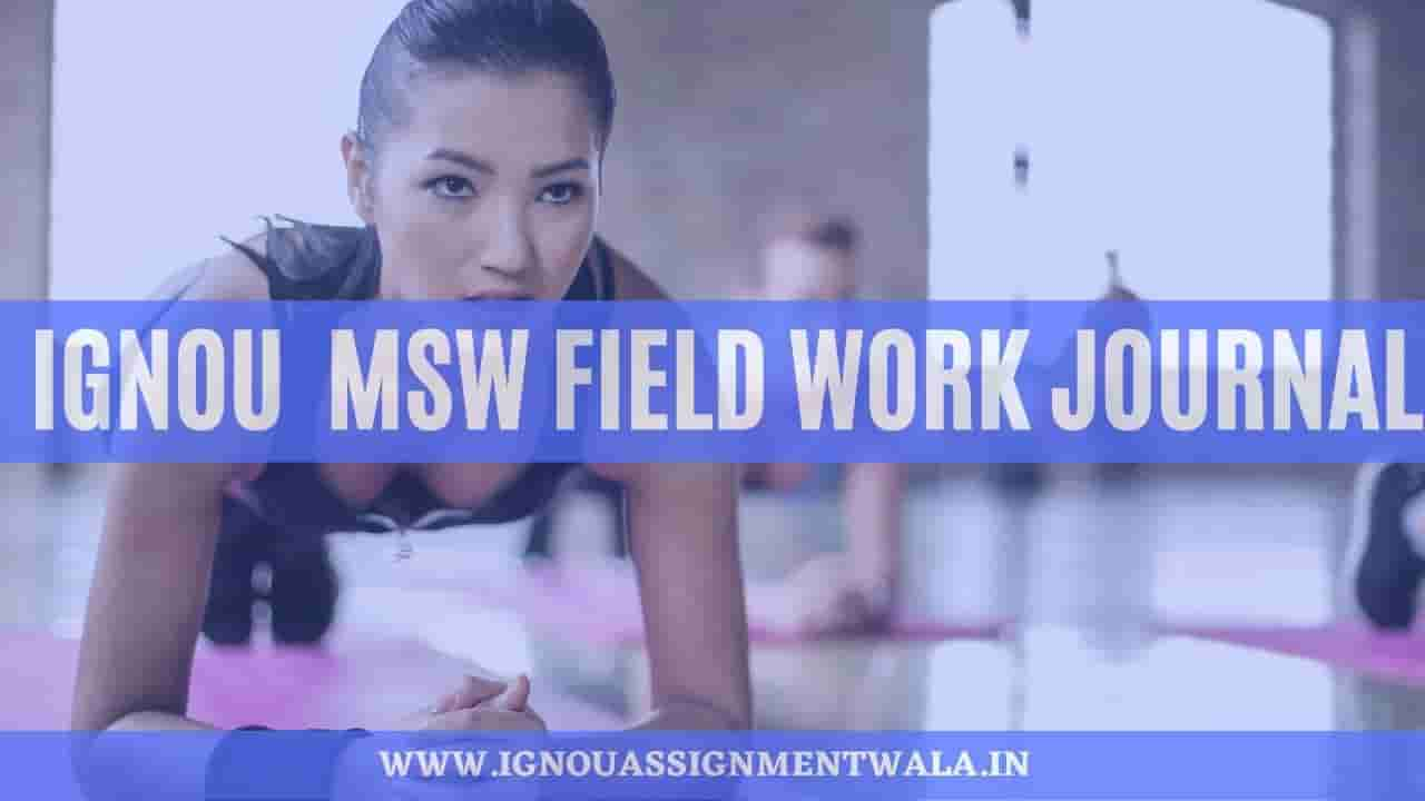 IGNOU  MSW field work journal