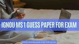 IGNOU MS 1 GUESS PAPER FOR  EXAM