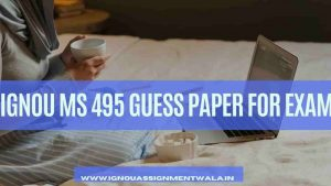 IGNOU MS 495 GUESS PAPER FOR EXAM