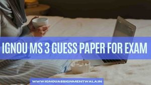 IGNOU MS 3 GUESS PAPER FOR EXAM