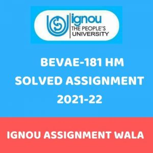 Read more about the article IGNOU BEVAE 181 HINDI SOLVED ASSIGNMENT 2021-22
