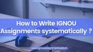Read more about the article How to Write IGNOU Assignments systematically ?