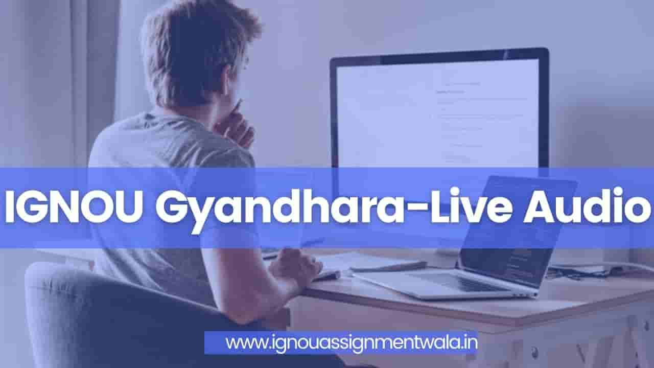 You are currently viewing IGNOU Gyandhara